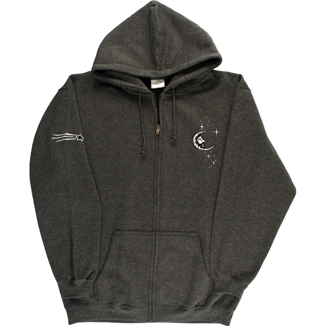Jerry Moon Zipper Grey Hoodie