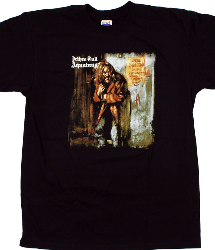Jethro Tull Aqua Lung Black T-Shirt Tee