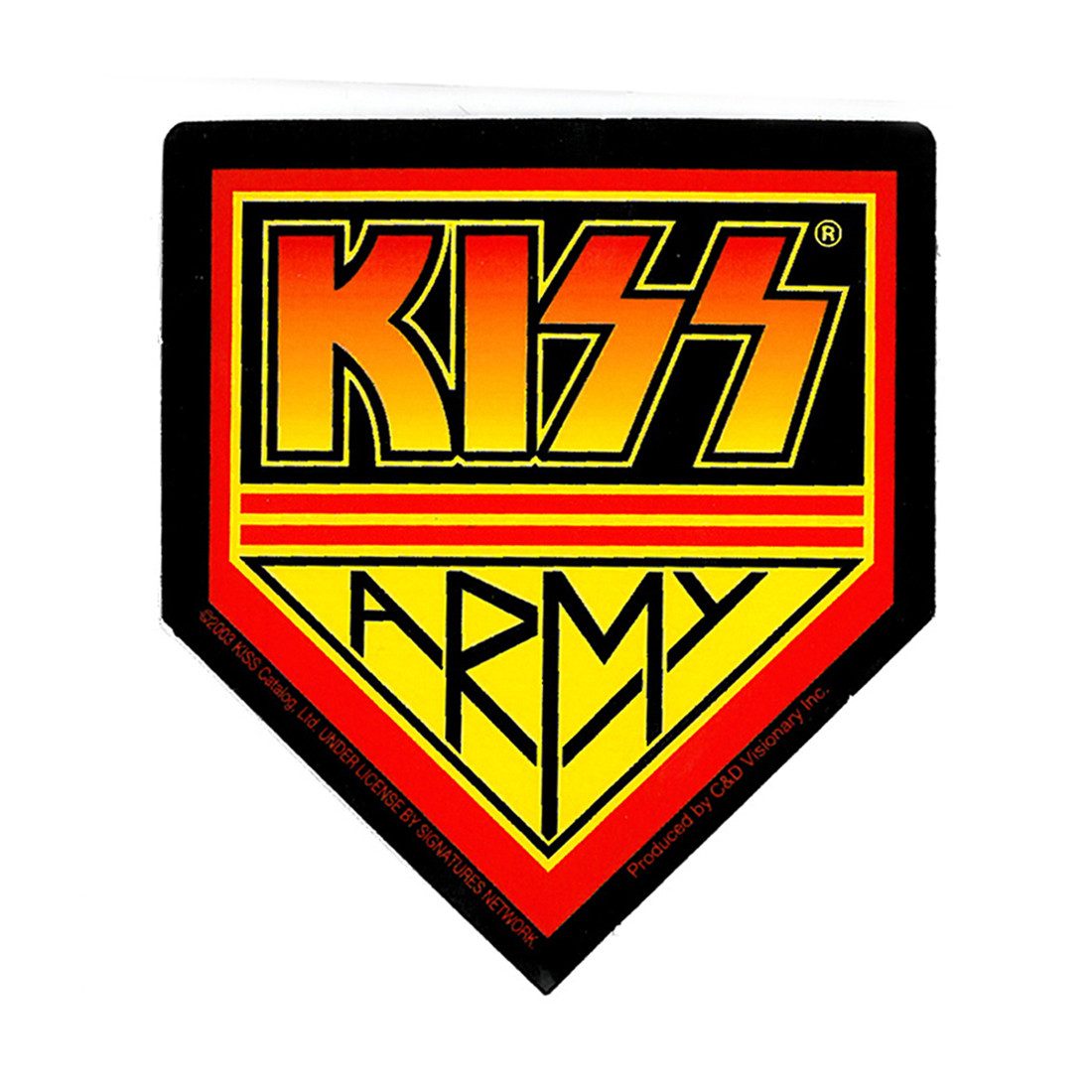 KISS Army Sticker
