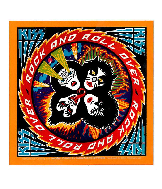 KISS Rock N Roll Over Sticker