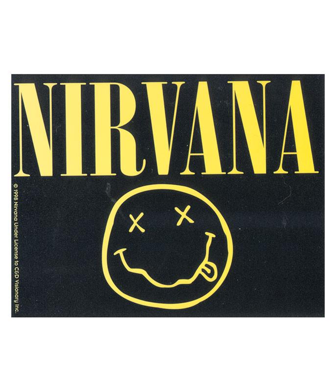 Nirvana Smiley Logo Sticker
