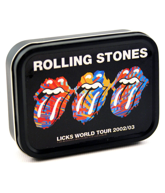 Rolling Stones Three Tongues Stash Tin