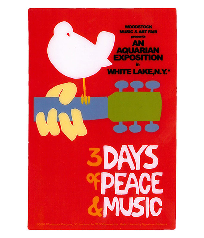 WOODSTOCK CLASSIC RED STICKER