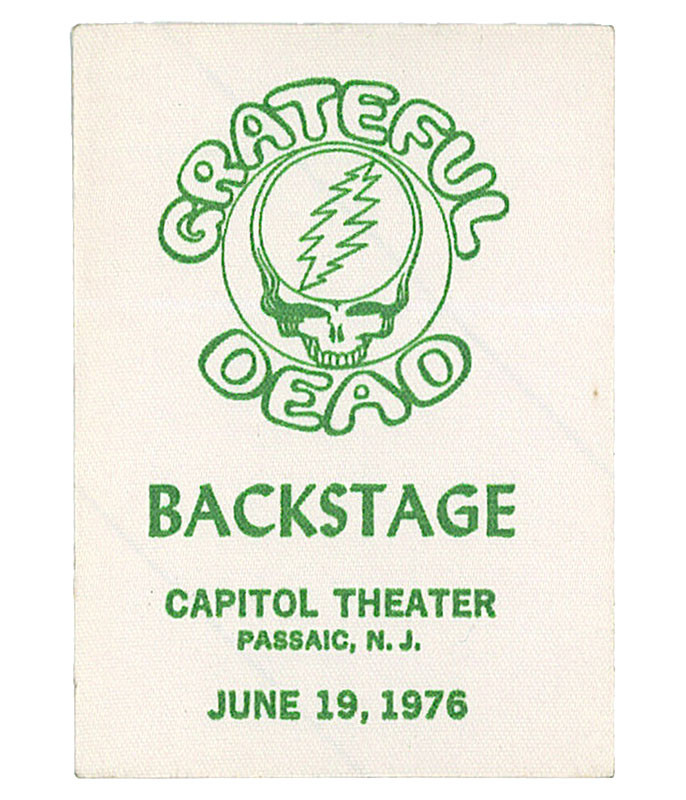 Grateful Dead 1976 06-19 Backstage Pass