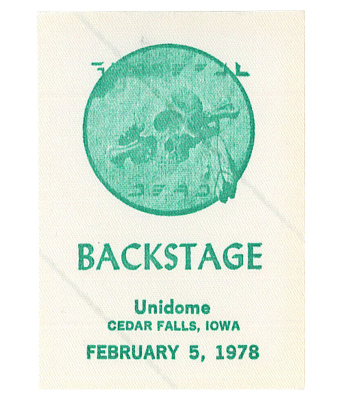 GRATEFUL DEAD 1978 02-05 BACKSTAGE PASS