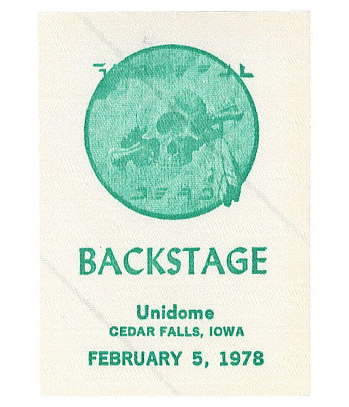GRATEFUL DEAD 1978 02-05 BACKSTAGE PASS