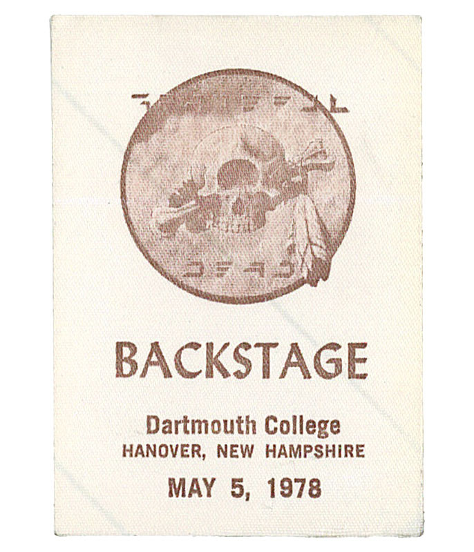 GRATEFUL DEAD 1978 05-05 BACKSTAGE PASS
