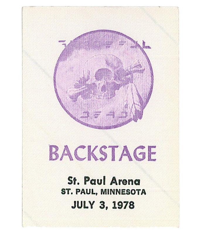 GRATEFUL DEAD 1978 07-03 BACKSTAGE PASS