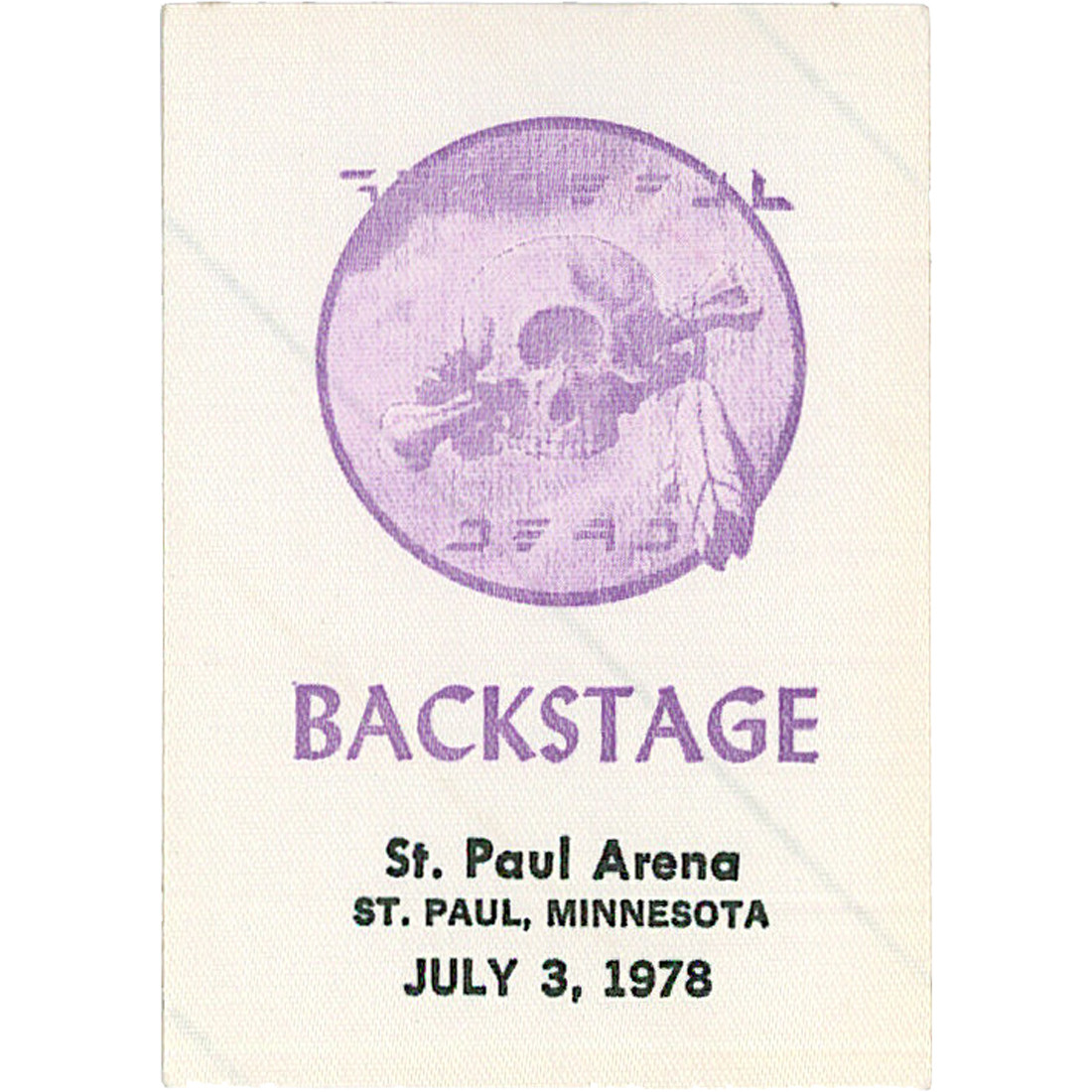 Grateful Dead 1978 07-03 Backstage Pass