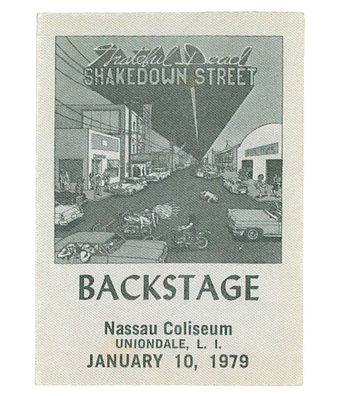 GRATEFUL DEAD 1979 01-10 BACKSTAGE PASS