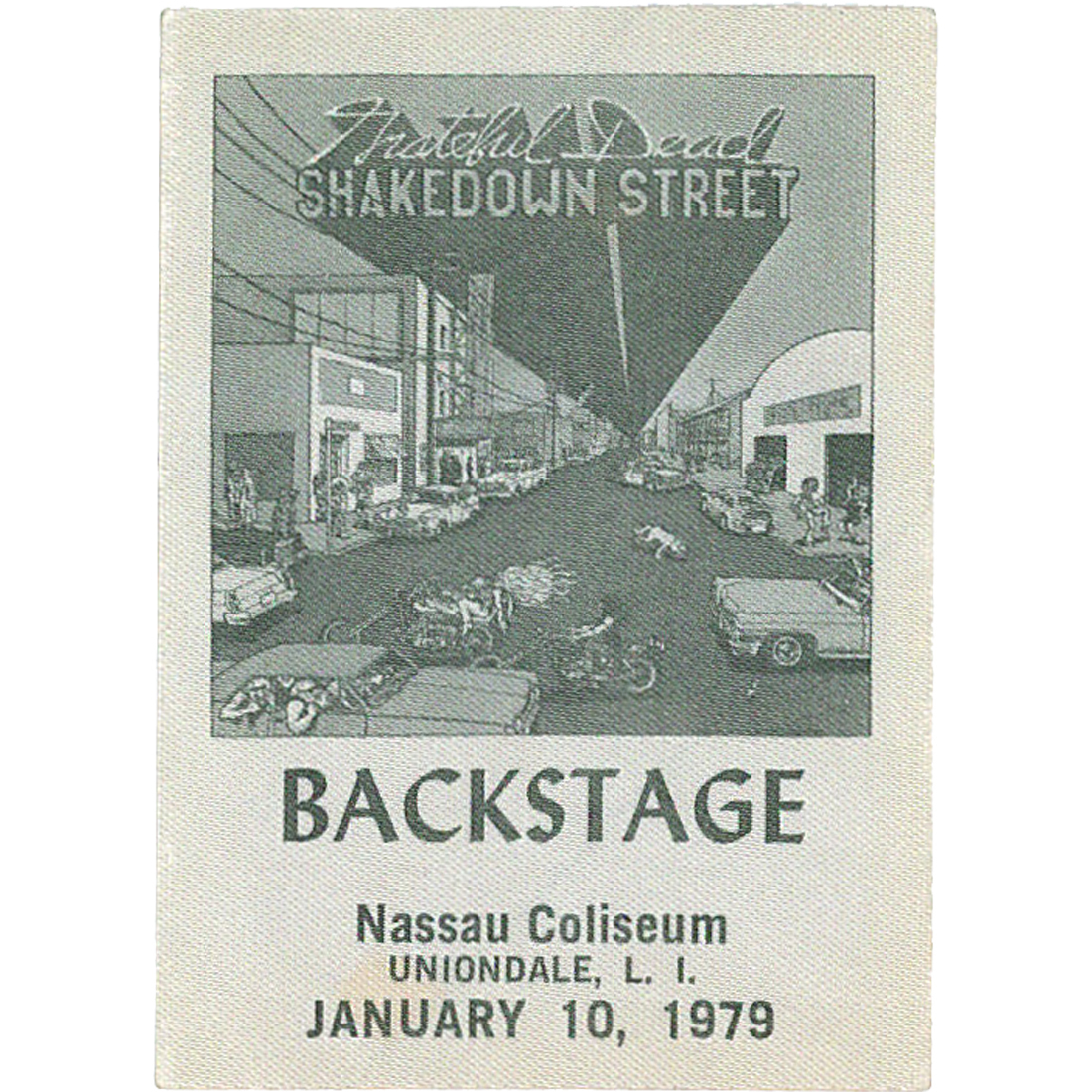 Grateful Dead 1979 01-10 Backstage Pass