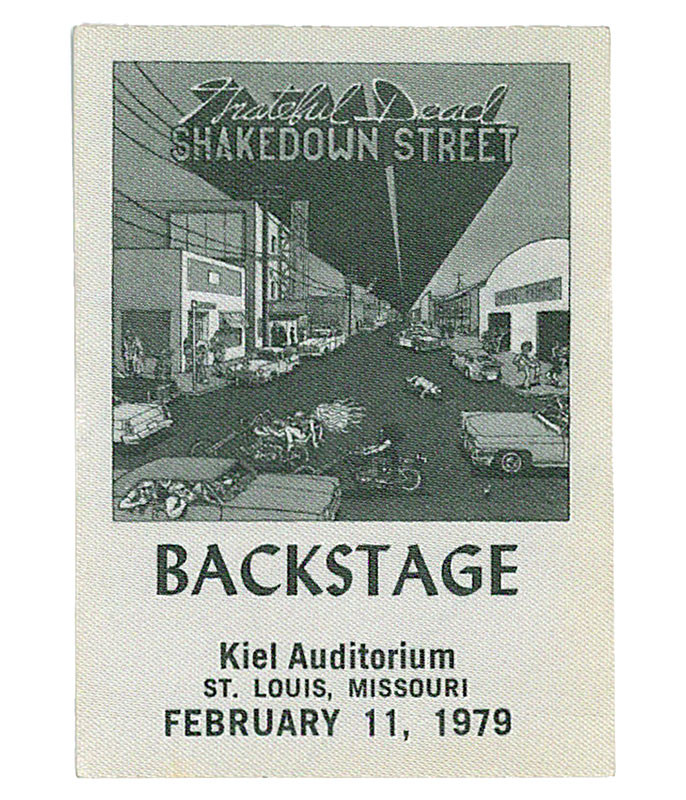 GRATEFUL DEAD 1979 02-11 BACKSTAGE PASS