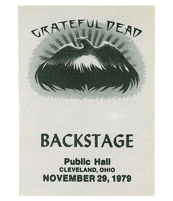 Grateful Dead 1979 11-29 Backstage Pass