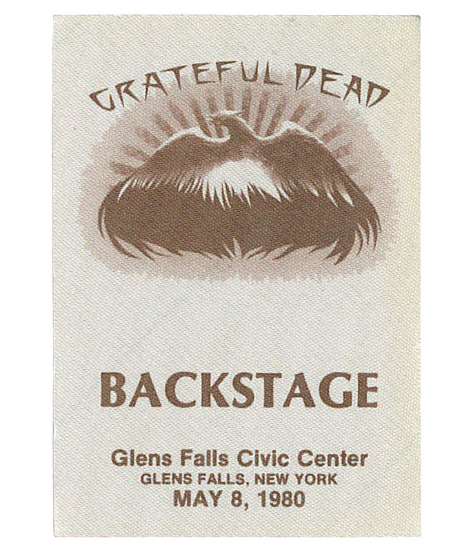 GRATEFUL DEAD 1980 05-08 BACKSTAGE PASS