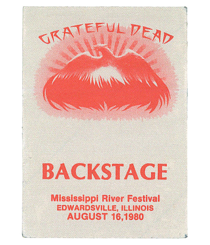 Grateful Dead 1980 08-16 Backstage Pass