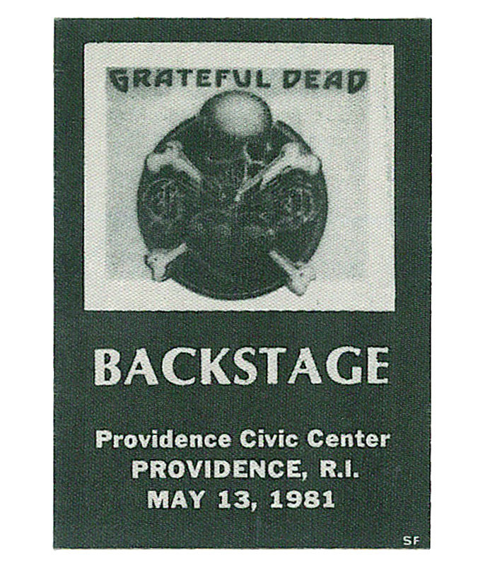 GRATEFUL DEAD 1981 05-13 BACKSTAGE PASS