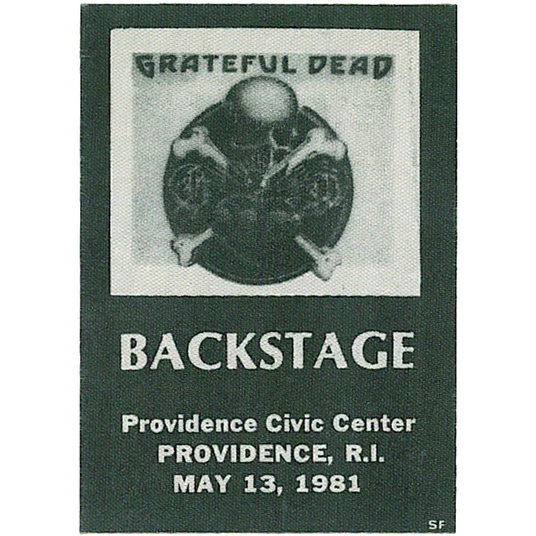 Grateful Dead 1981 05-13 Backstage Pass