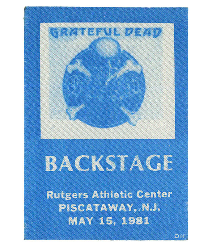 GRATEFUL DEAD 1981 05-15 BACKSTAGE PASS
