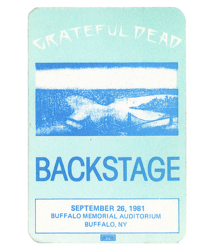 Grateful Dead 1981 09-26 Backstage Pass
