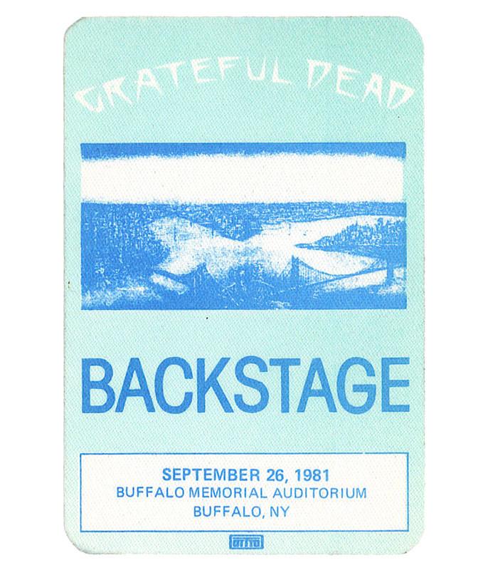 GRATEFUL DEAD 1981 09-26 BACKSTAGE PASS