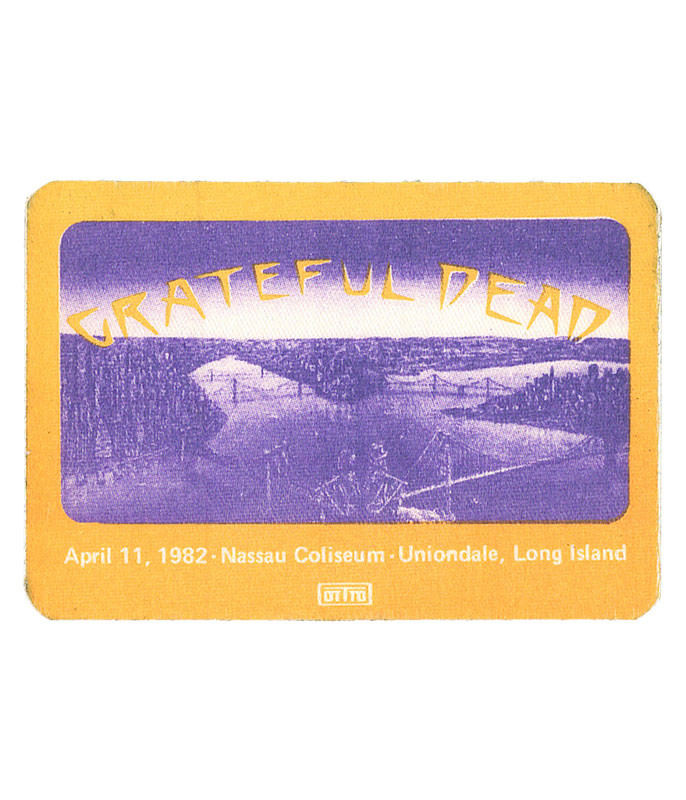 GRATEFUL DEAD 1982 04-11 BACKSTAGE PASS