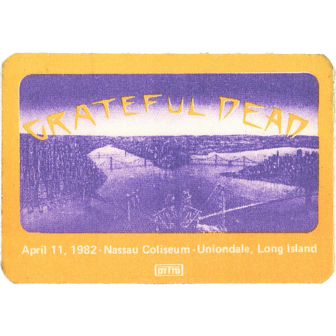 Grateful Dead 1982 04-11 Backstage Pass