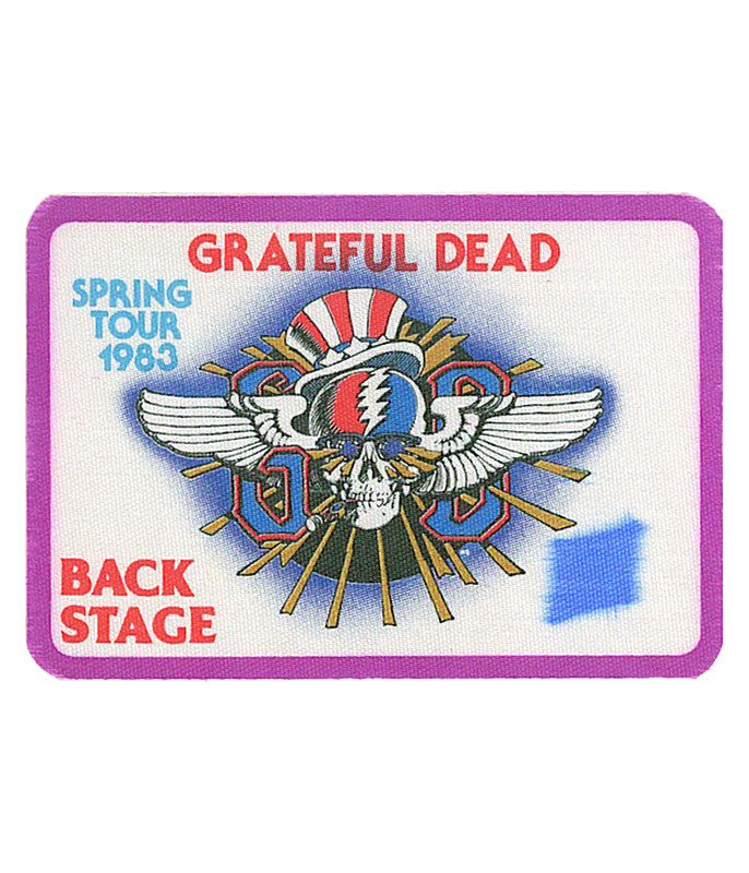 The Vault Grateful Dead 1983 Spring Tour Purple Backstage Pass Liquid Blue