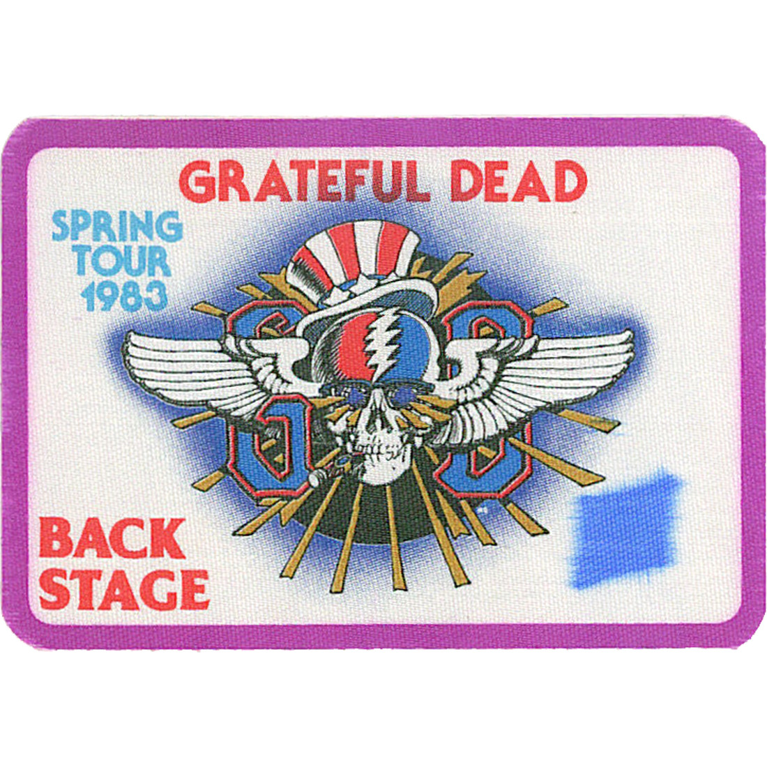 Grateful Dead 1983 Spring Tour Purple Backstage Pass