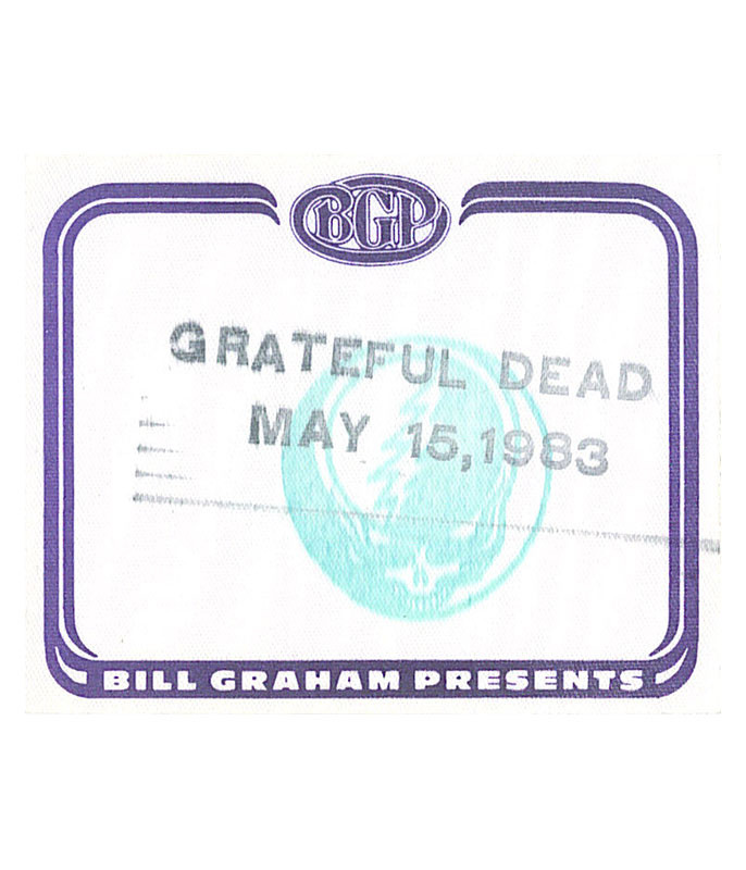 GRATEFUL DEAD 1983 05-15 BACKSTAGE PASS