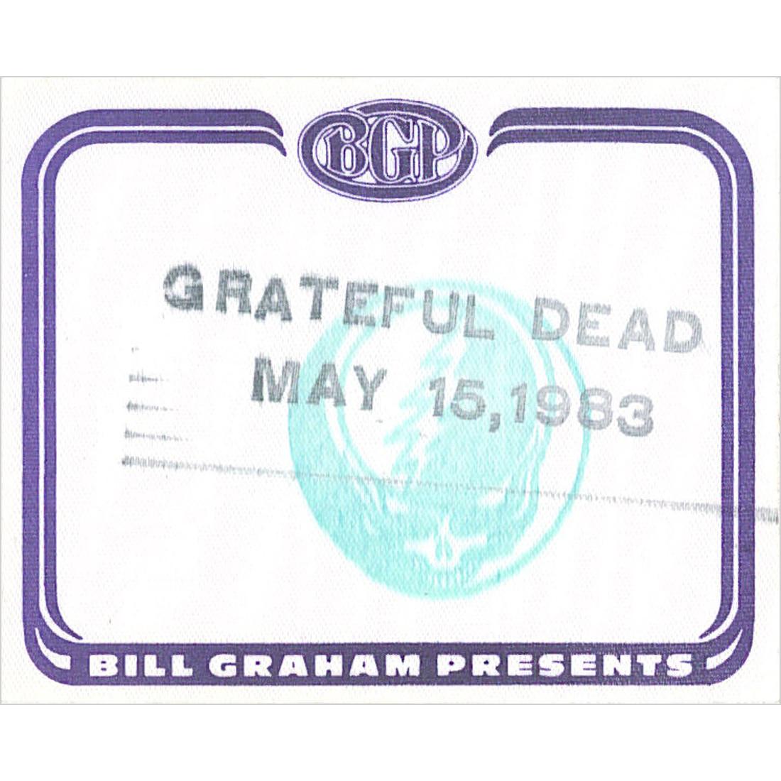 Grateful Dead 1983 05-15 Backstage Pass