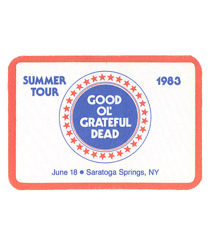 GRATEFUL DEAD 1983 06-18 BACKSTAGE PASS