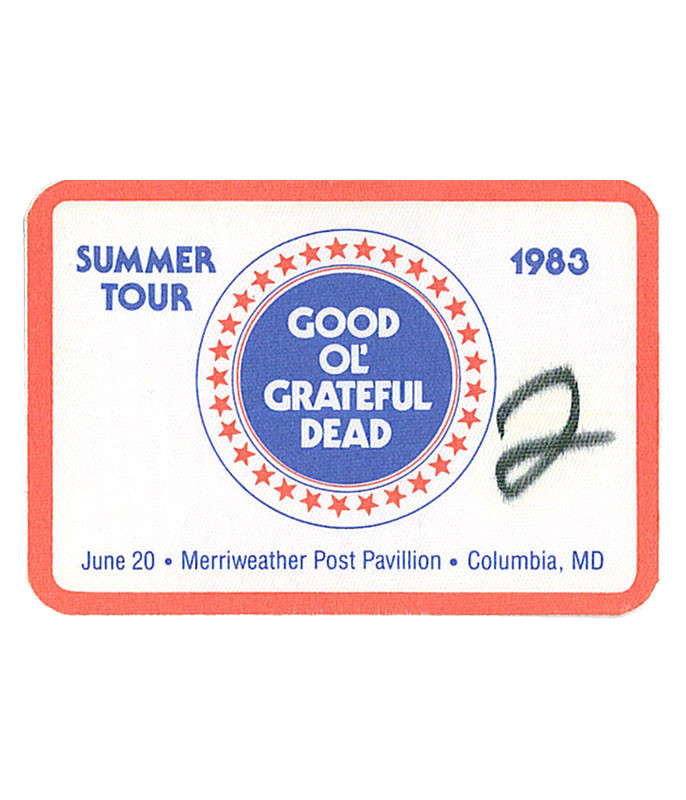 GRATEFUL DEAD 1983 06-20 BACKSTAGE PASS