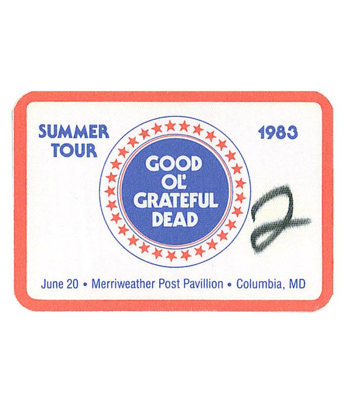 GRATEFUL DEAD 1983 06-20 BACKSTAGE PASS