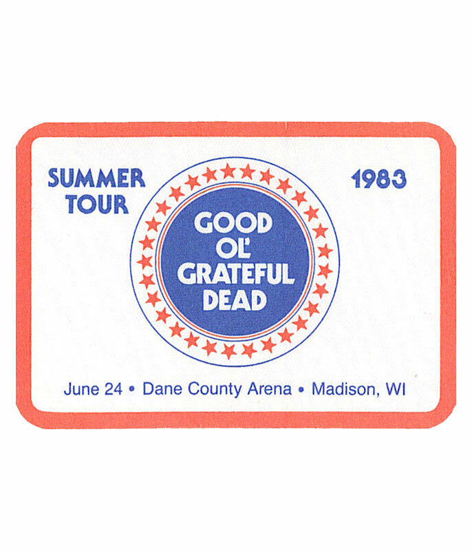 GRATEFUL DEAD 1983 06-24 BACKSTAGE PASS