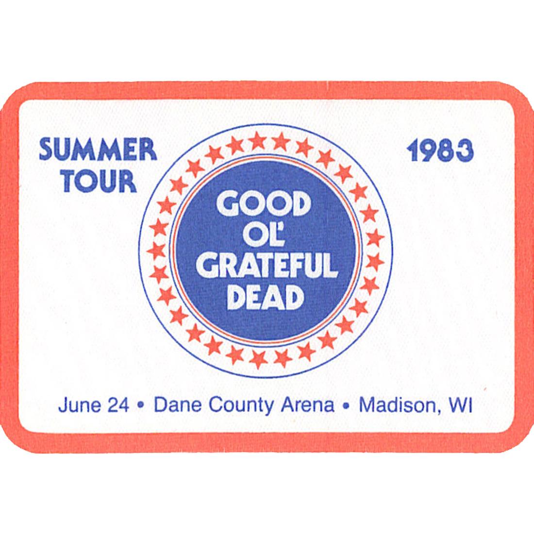 Grateful Dead 1983 06-24 Backstage Pass