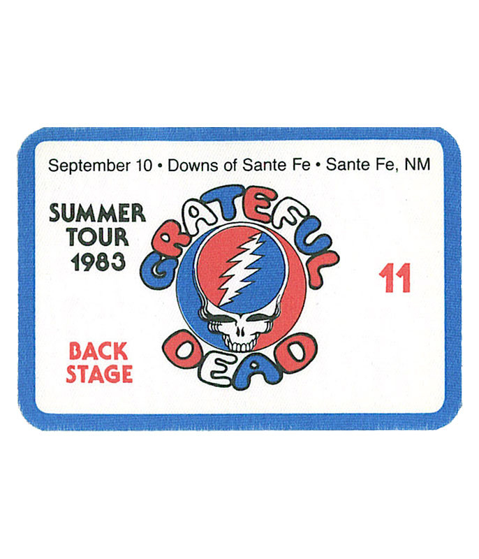 GRATEFUL DEAD 1983 09-10 BACKSTAGE PASS