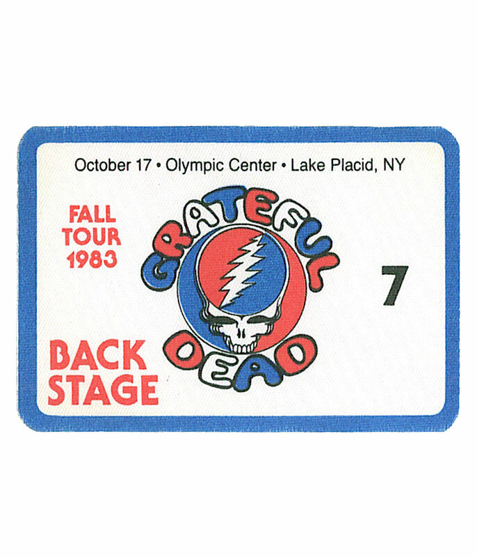 GRATEFUL DEAD 1983 10-17 BACKSTAGE PASS