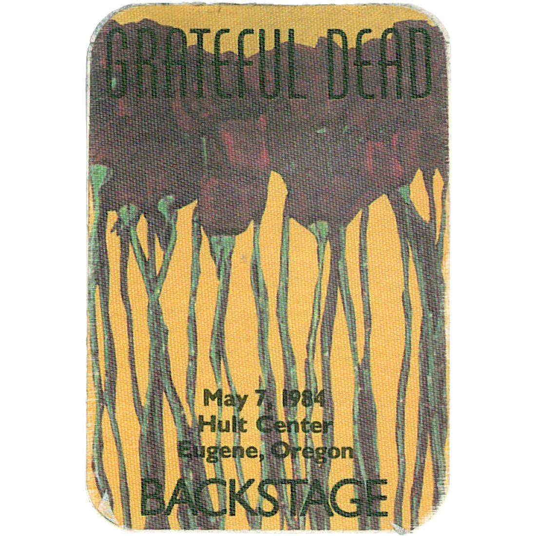 Grateful Dead 1984 05-07 Backstage Pass