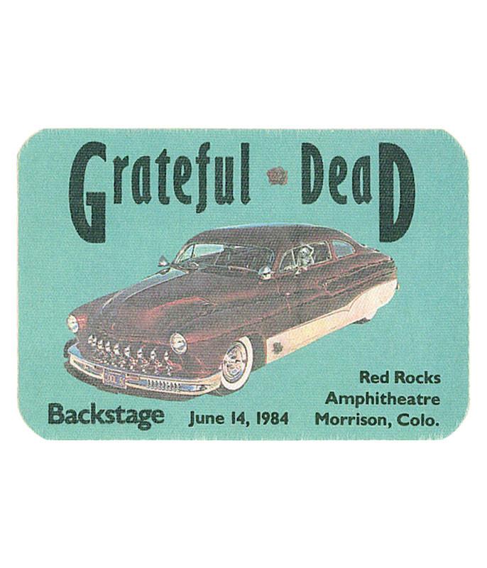The Vault Grateful Dead 1984 06-14 Backstage Pass Liquid Blue