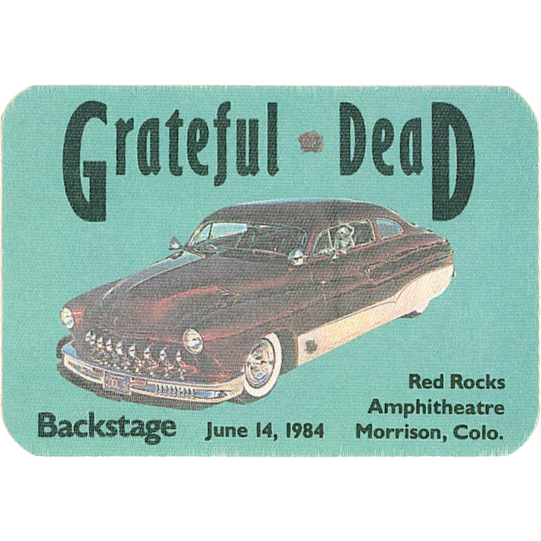 Grateful Dead 1984 06-14 Backstage Pass