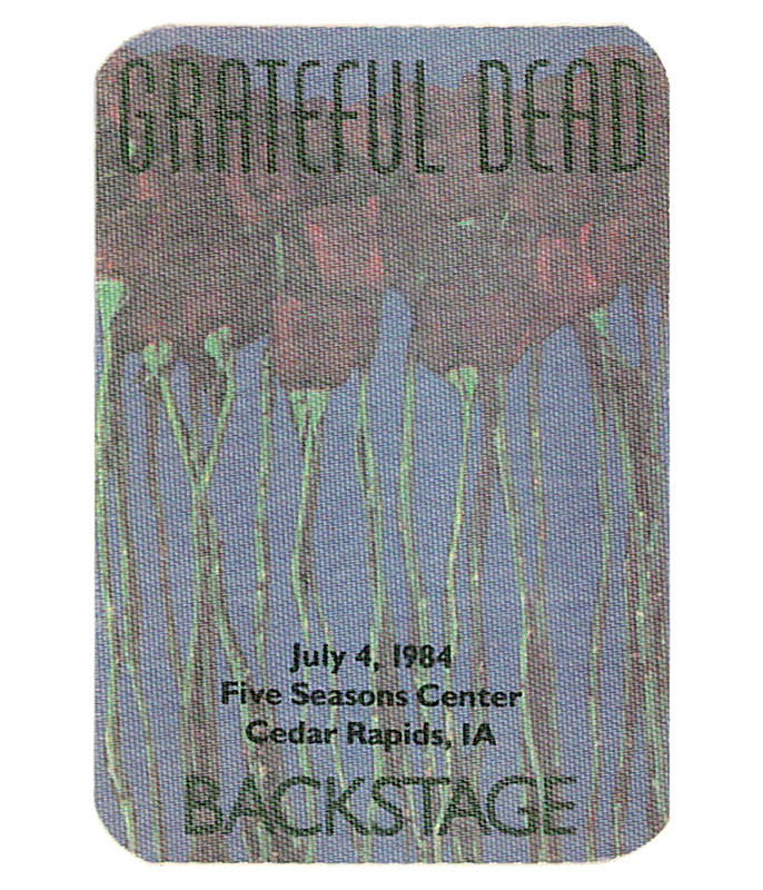 GRATEFUL DEAD 1984 07-04 BACKSTAGE PASS