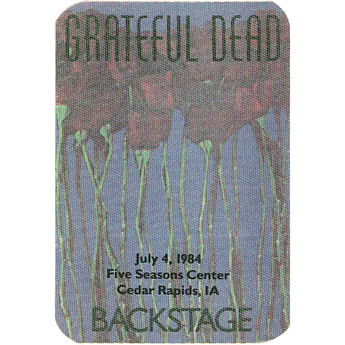 Grateful Dead 1984 07-04 Backstage Pass