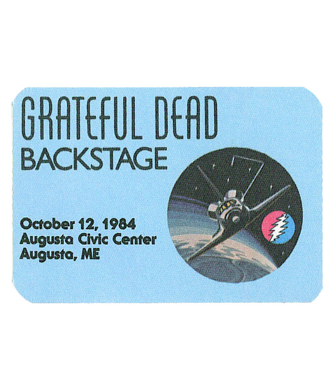 The Vault Grateful Dead 1984 10-12 Backstage Pass Liquid Blue
