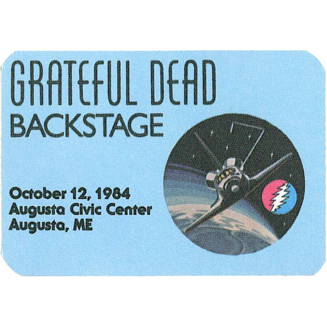 Grateful Dead 1984 10-12 Backstage Pass