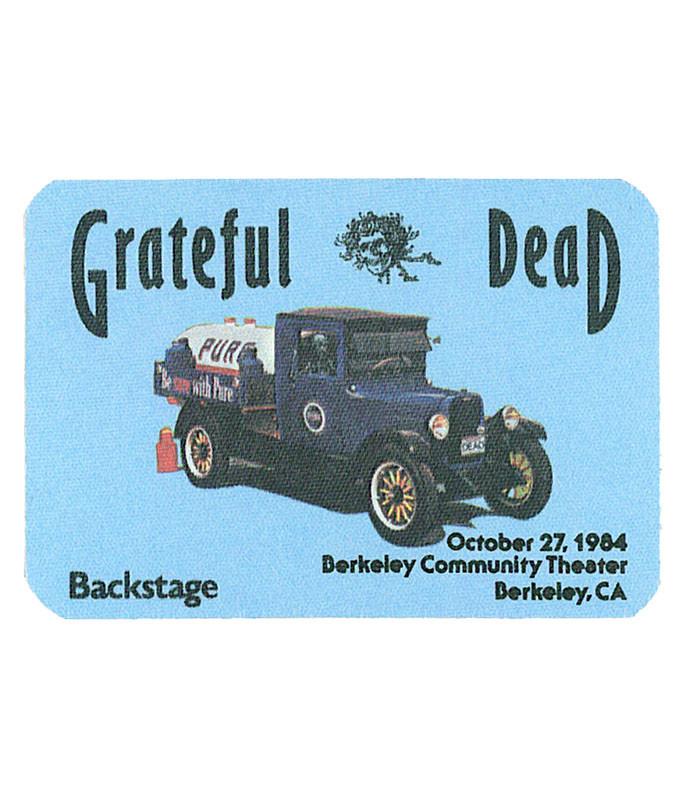 Grateful Dead 1984 10-27 Backstage Pass