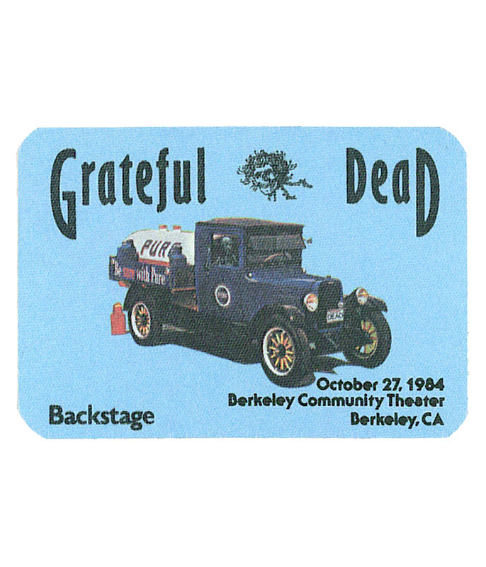 GRATEFUL DEAD 1984 10-27 BACKSTAGE PASS