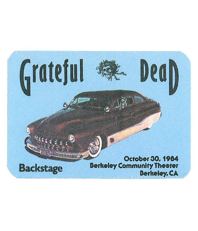 GRATEFUL DEAD 1984 10-30 BACKSTAGE PASS