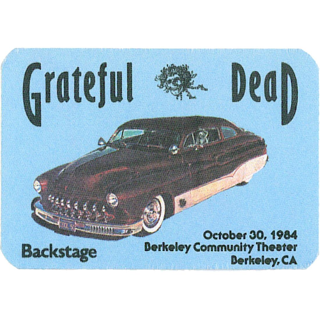 Grateful Dead 1984 10-30 Backstage Pass