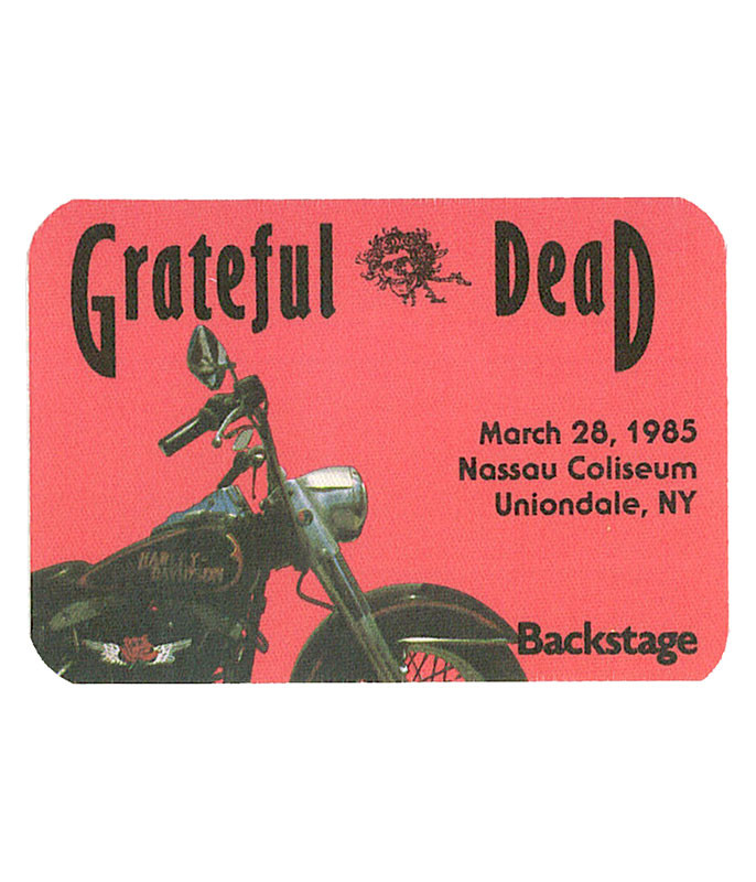 GRATEFUL DEAD 1985 03-28 BACKSTAGE PASS