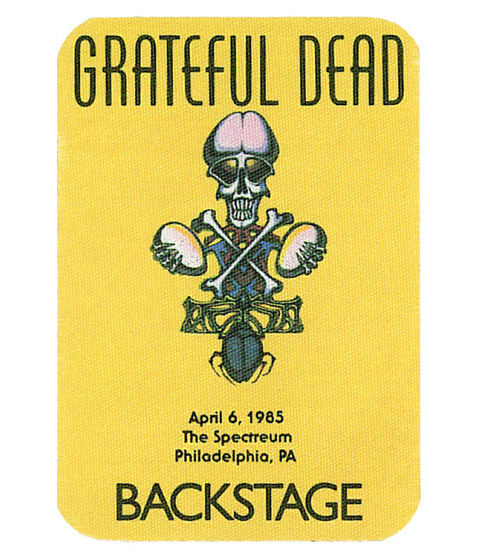 GRATEFUL DEAD 1985 04-06 BACKSTAGE PASS